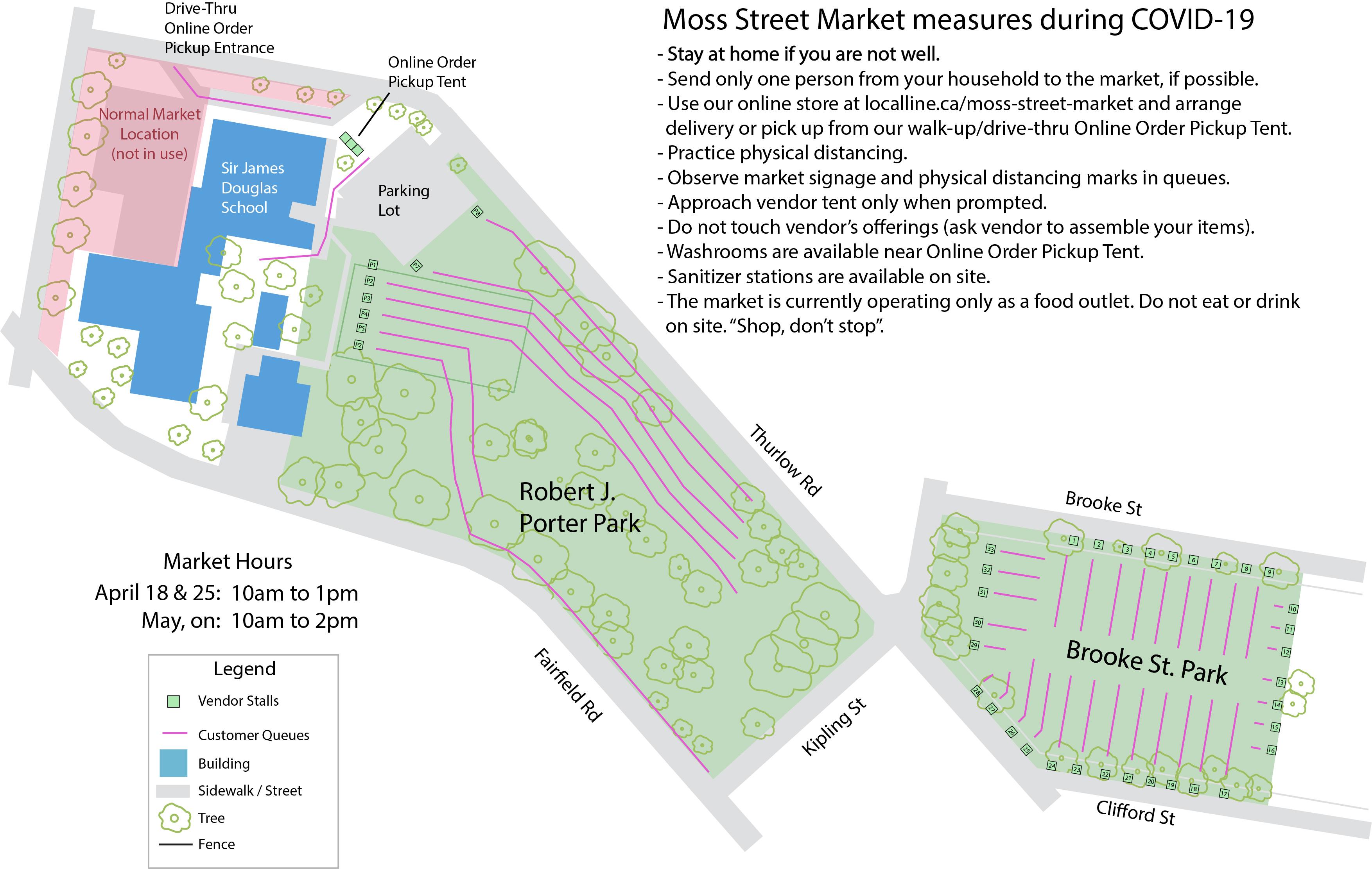 Porter Park & Brooke Street Park Map
