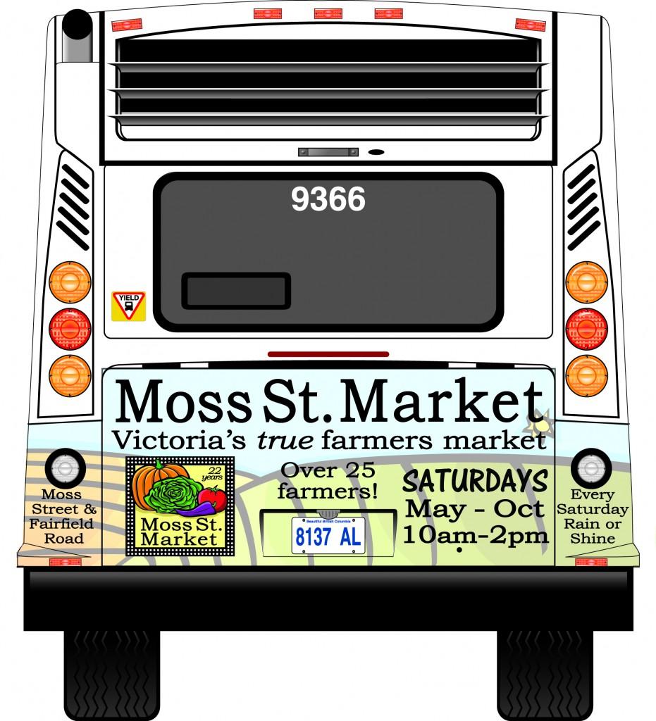 Moss St Market Bus Ad