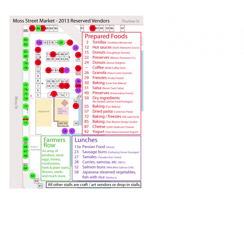 MSM Grounds Map, 2013  - by vendor category
